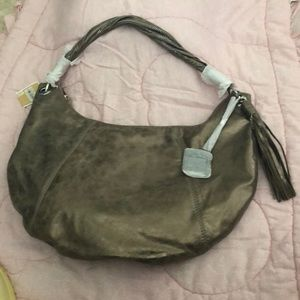 Michael Kors leather half moon bag NWT